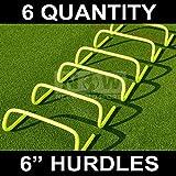 "6"" AGILITY HURDLES [6 Qty] - Football/Soccer/Multi Sport Speed Training"