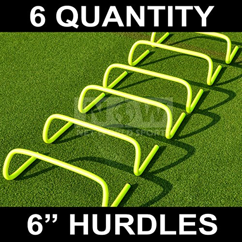 "Forza 6""/9""/12″ Speed Hurdles for Agility Training [Set of 6 Hurdles] | Hurdles Training Equipment | Multi-Sports Equipment | Speed & Agility Training Equipment"