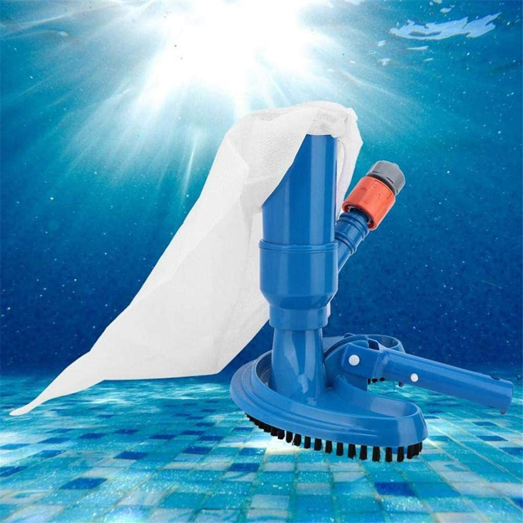 YunZyun Swimming Pool Vacuum Cleaner Mini Jet Swimming Pool Vacuum Cleaner Pool Vacuum Head Pool Supply Cleaning Tool,Suitable for Inground and Above Ground Pools Blue