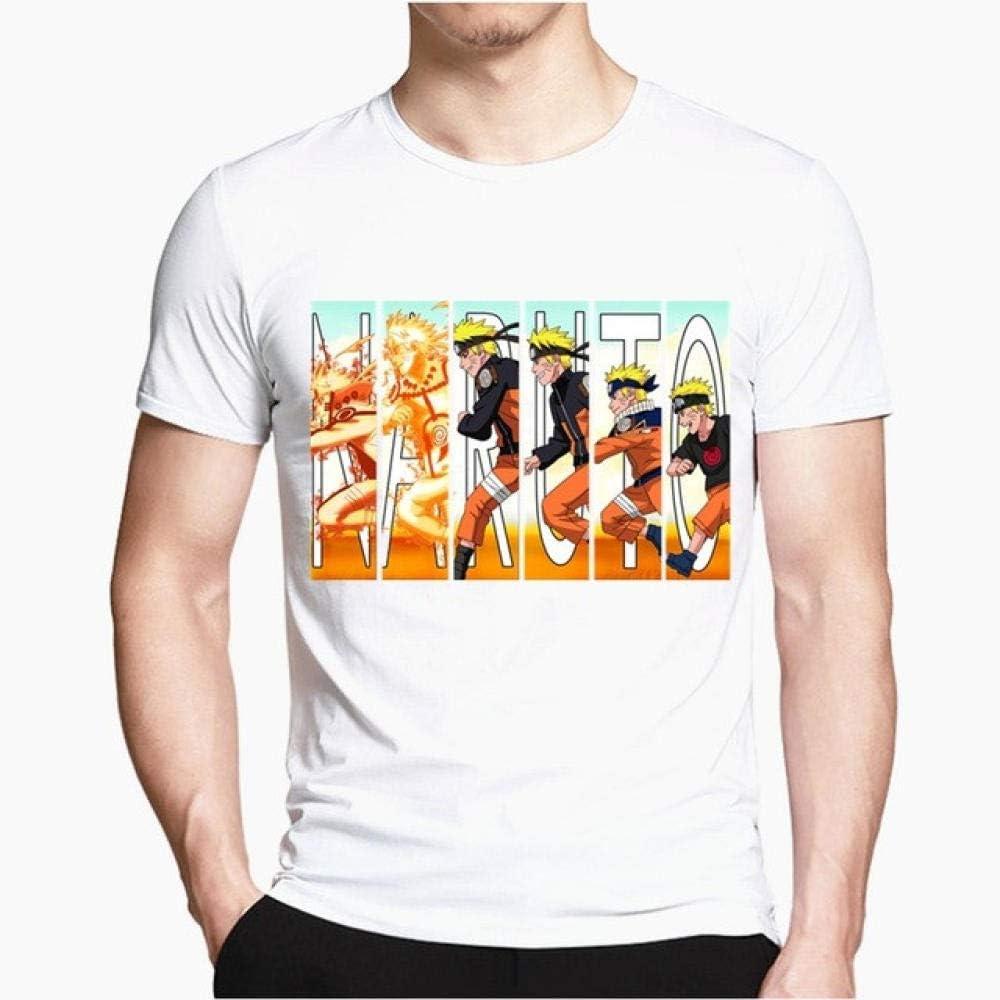 TSHIMEN Camisetas Hombre Escalada Naruto Camiseta de Dibujos Animados de los Hombres Diseño Fresco Tops Hipster Personalizada Camisetas Camiseta Harajuku Streetwear Blanco l: Amazon.es: Ropa y accesorios