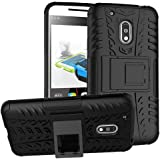 Moto G4 Play Cover Hybrid DWaybox Rugged Heavy Duty Armor Hard Back Cover Case for Motorola Moto G4 Play / Moto G Play 4th Generation 2016 Stand Case with Kickstand (BlacK)