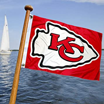 Kansas City Chiefs barco y bandera de carro de golf: Amazon.es ...