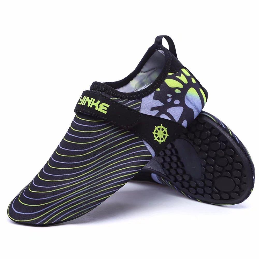 Wonvatu Mens Womens Fashion Durable Sole Barefoot Aqua Water Shoes for Beach Swim Drive Yoga Surf