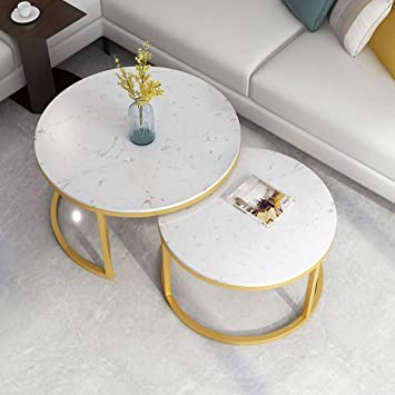Amazon.com: Modern 2 Nest Of Table High Gloss Sets Sofa Coffee Table Living Room Furniture Sofa Side Table End Table (1 Large And 1 Small): Furniture & Decor