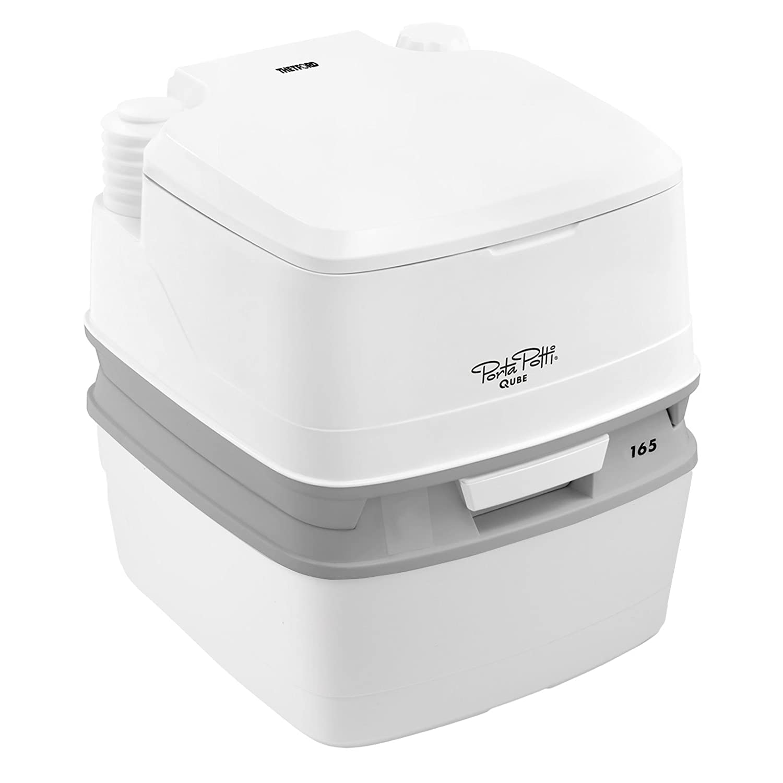 Thetford Porta Potti Qube 165 Campingtoilette 21 Liter Tank Set mit natürlicher Sitzhöhe