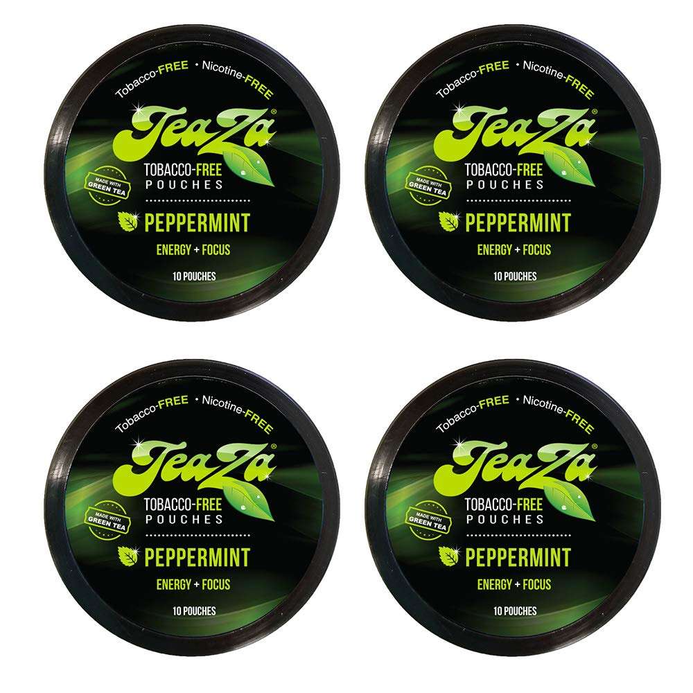 Teaza Peppermint Herbal Energy Pouch, 10 Count, 4 Camo Pucks by TeaZa