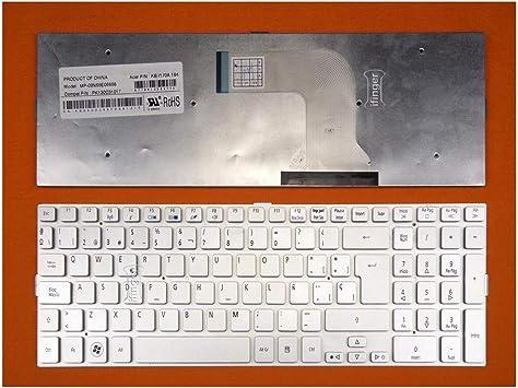 IFINGER Teclado para PORTATIL Acer Aspire 8943G Serie EN ESPAÑOL Nuevo Silver Plata