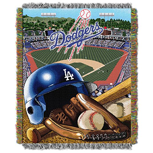 The Northwest Company MLB Los Angeles Dodgers Home Field Advantage Woven Tapestry Throw, 48