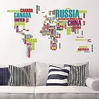 Ambiance-Live Sticker Carte du Monde réalisée avec Les Noms de Pays