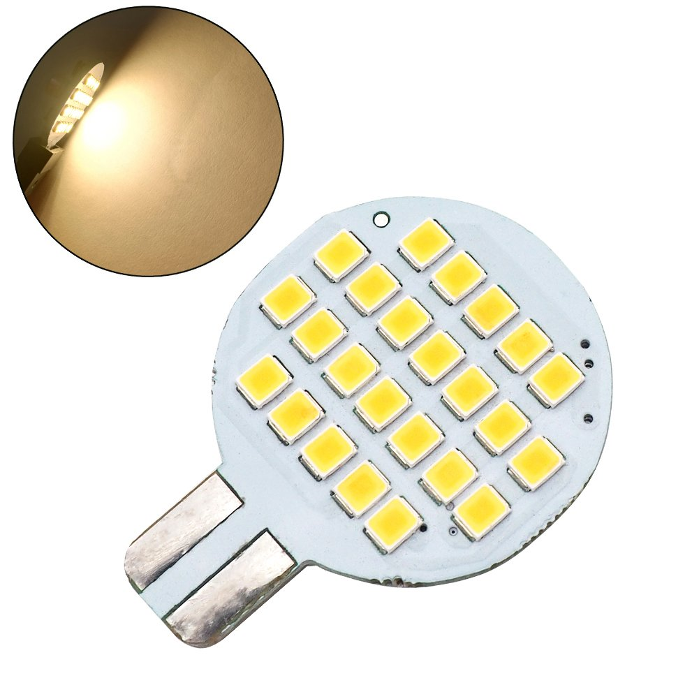 Grv T10 LED Bulb Light 921 194 192 C921 24-2835 SMD lamp Super Bright AC/DC 12V -24V 2.5 Watt Warm White 2nd Generation Pack of 10