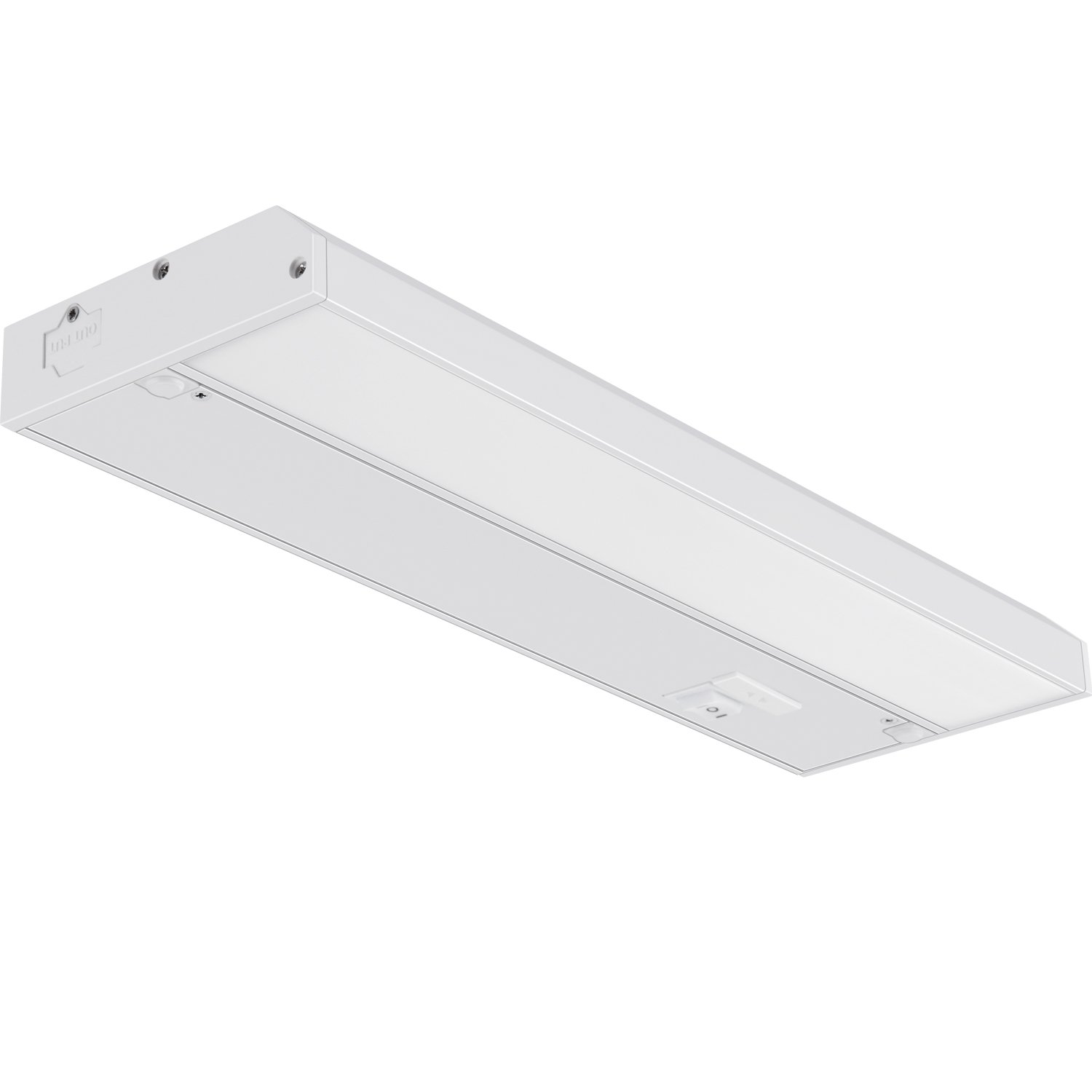 GetInLight 3 Color Levels Dimmable LED Under Cabinet Lighting with ETL Listed, Warm White (2700K), Soft White (3000K), Bright White (4000K), White Finished, ...
