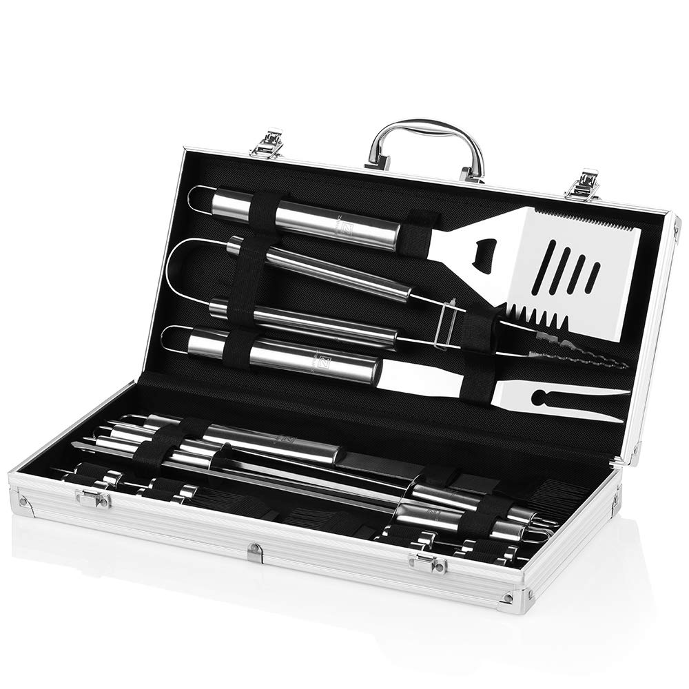 Grill Set 4-Piece BBQ Tools Heavy Duty... Wietus Barbecue Tool Set