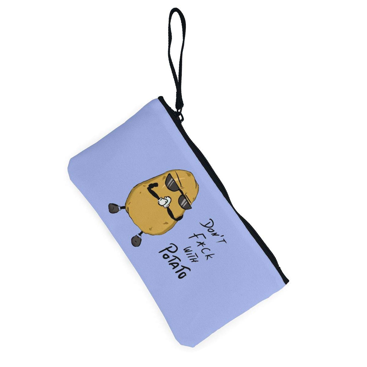 Make Up Bag,Cellphone Bag With Handle Dont Fxck With Potato Zipper Canvas Coin Purse Wallet