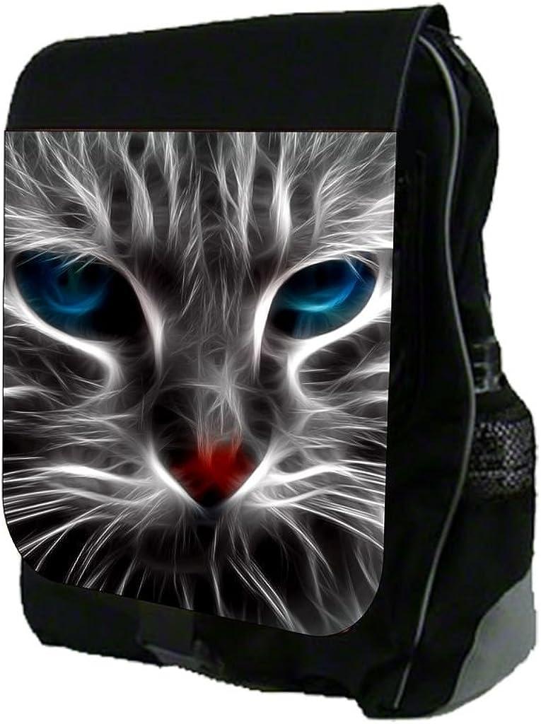 Blue Eyed Fractal Kitten-Up Close TM School Backpack