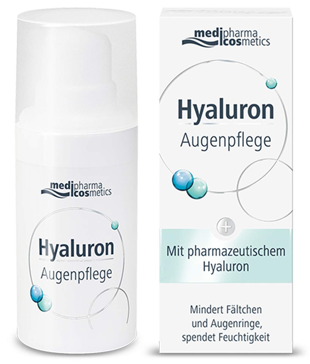 Medipharma Cosmetics Hyaluron Eye Care Cream - Reduces Wrinkles, Dark Circles & Puffing - Paraben Free - Moisturizer - Suitable For Dry, Sensitive Skin - 15 ML