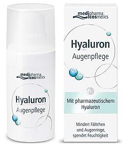 Medipharma Cosmetics Hyaluron Eye Care Cream - Reduces Wrinkles, Dark Circles & Puffing - Paraben Free - Moisturizer - Suitable For Dry, Sensitive Skin - 15 ML