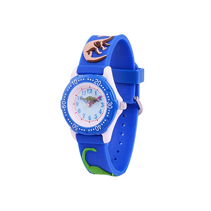 Amazon.com: Wolfteeth Watches for Boys Analog Watch for Kids Watch Blue 3D Dinosaur Watch Band 305903: Watches