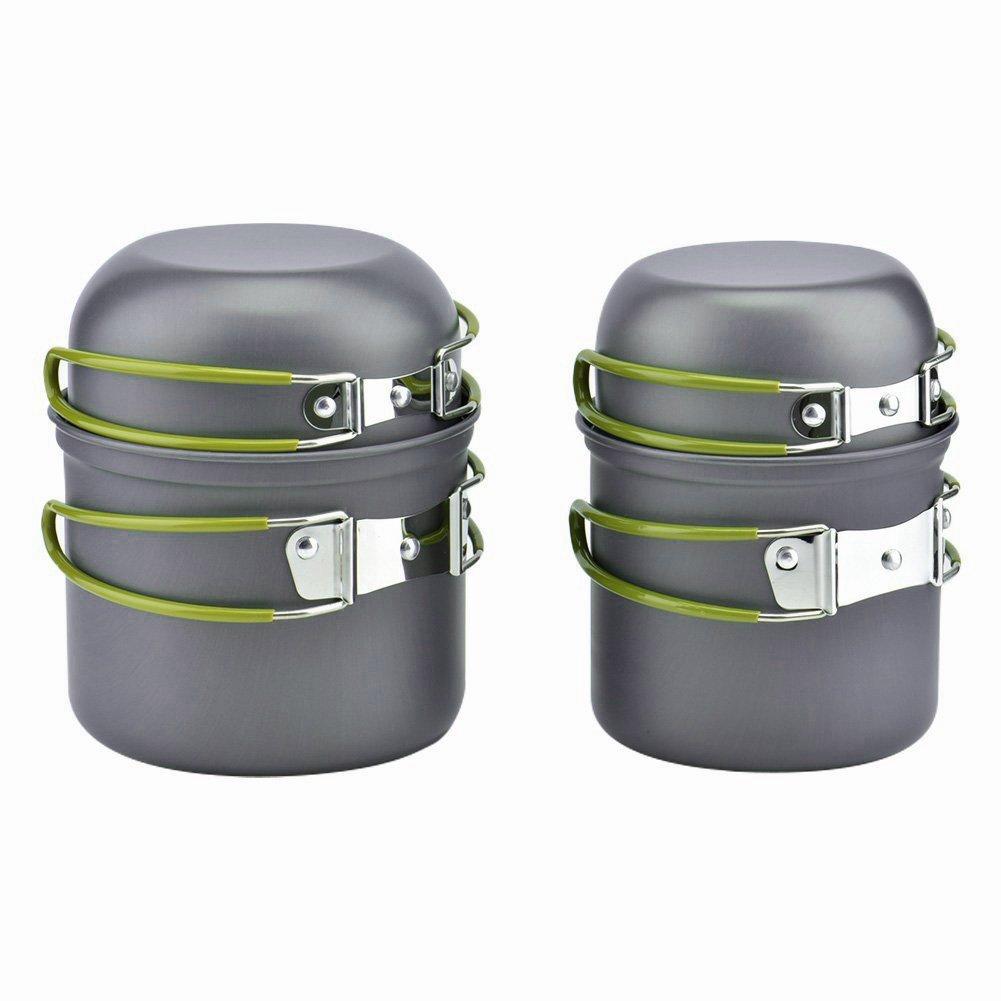Ecent 0.8L Hervidor tetera de agua portátil de aluminio para acampar senderismo camping al aire libre ultraligero Outdoor-Kettle-0.8L