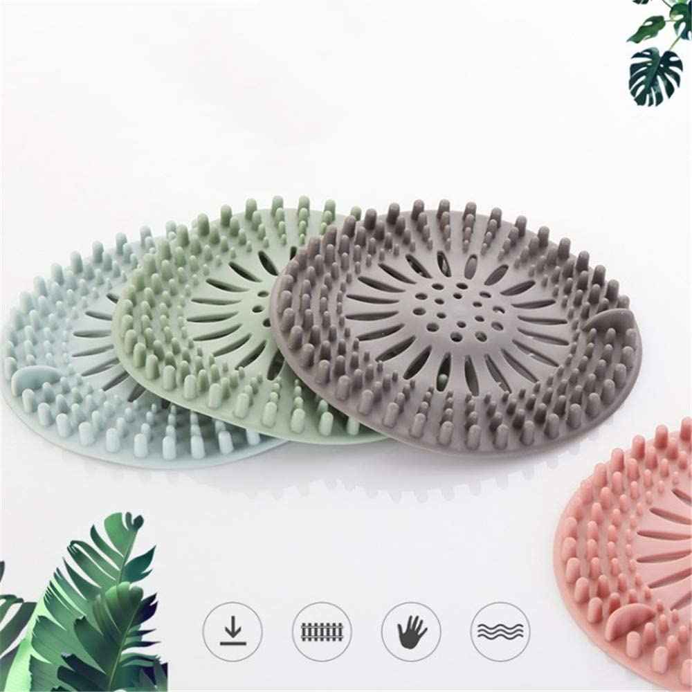 Drain hair catcher Rubber Hair Stopper Hair Catcher Durable Silicone 3 Pack Filter for Kitchen Bathroom and Bath tub Hair Stopper Shower Drain Covers Easy to Install and Clean