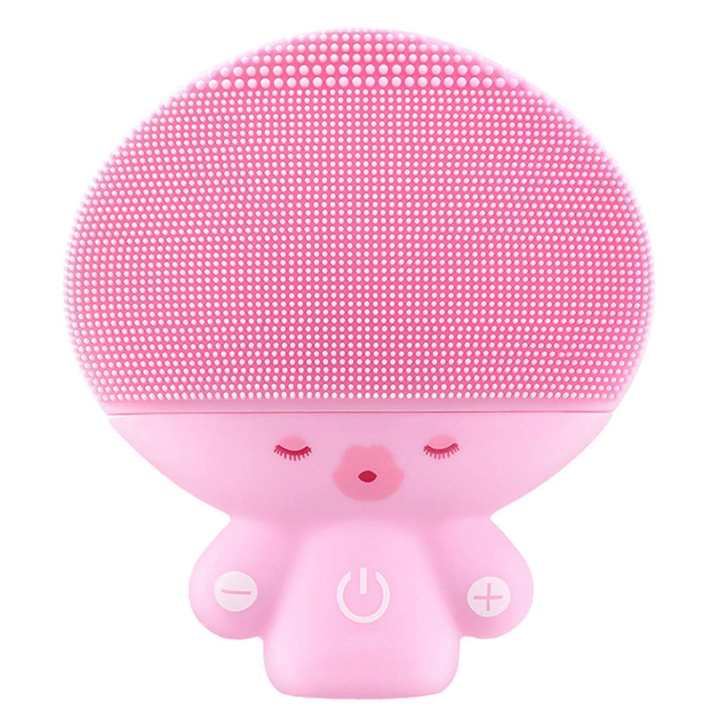 HAOMEI Facial Cleansing Brush Facial Cleaner, Electric Cleansing Instrument, Three Generations of Pore Cleaner, Electric Washer, Sonic Cleansing Brush and Facial Massager (Color : Pink)