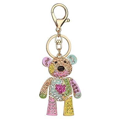 Yefree Animal creativo en forma de oso colgante de metal ...