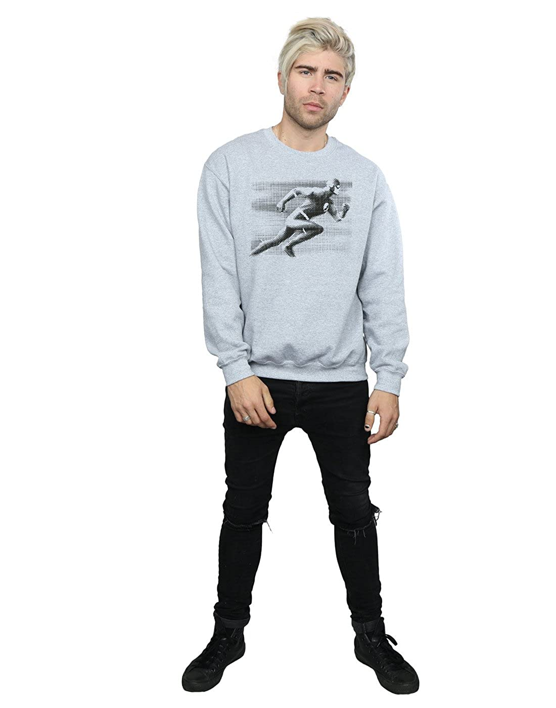5353d4e55345 DC Comics Men s Flash Spot Racer Sweatshirt at Amazon Men s Clothing store