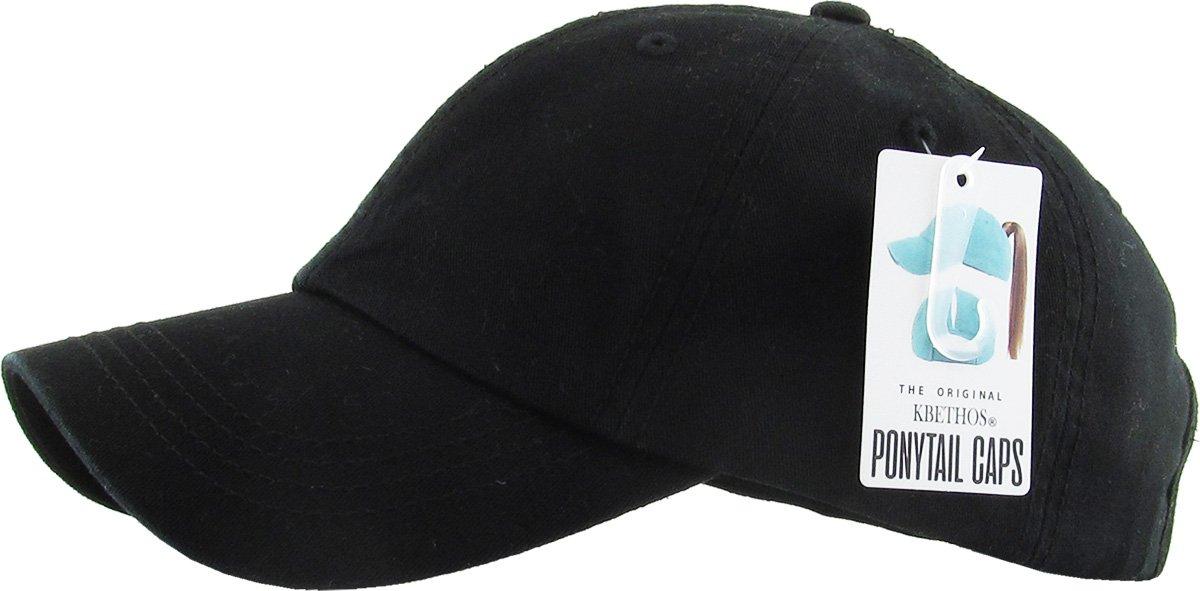KBETHOS All Hat Ponytail Vintage Sports Glitter Messy High Bun Hat Ponycaps  Adjustable Cotton and Mesh larger image 71fe6074098c