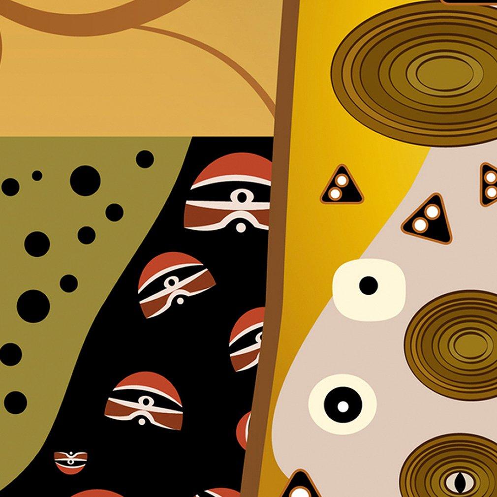 Decomonkey Paravent Raumteiler XXL Einseitig Einseitig Einseitig Baum 225x172 cm 5 TLG. Trennwand Vlies Leinwand Raumtrenner Sichtschutz spanische Wand Blickdicht Textile Haptik Haptik Klimt Modern Beige Gold Blitz b331c4