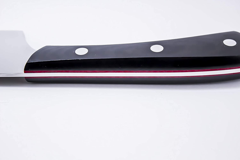 Cuchillo Cocinero Japonés Kiritsuke de 20 cm con Mango de Micarta negra acero X50CrMoV15: Amazon.es: Hogar