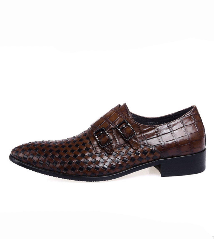 GRRONG Mauml;nner Fruuml;hling Und Herbst Arbeiten Business-Kleidung Schuhe  40 Brown