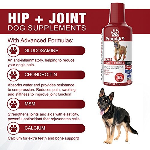 Proud K9 Liquid Glucosamine Hip And Joint Supplement For