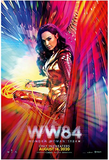 "Amazon.com: WW84 (Wonder Woman 1984) Movie Poster - Advance One Sheet  24""x36"" This is a Certified PosterOffice Print with Holographic Sequential  Numbering for Authenticity.: Posters & Prints"