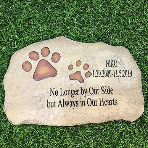 somiss Pet Memorial Stones,Personalized Dog Memorial Stones All Content is Customizable, Pet