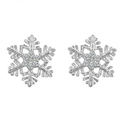 ohrstecker schneeflocke