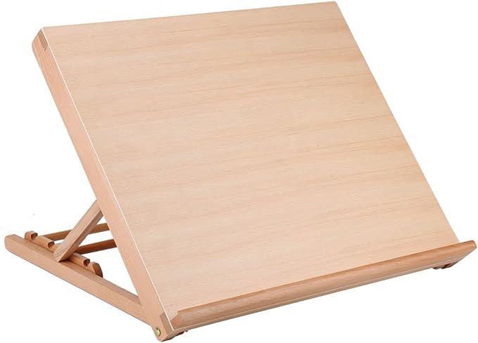 Caballete de madera para mesa de dibujo, caja de caballete de mesa ...