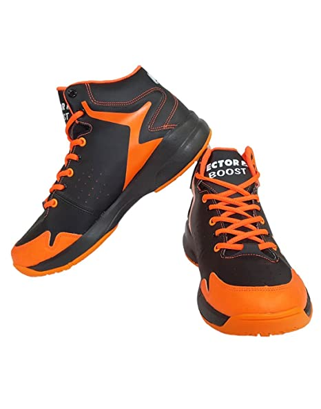 Vector X Boost Basketball Shoes, (Black/Orange) Men's Basketball Shoes at amazon