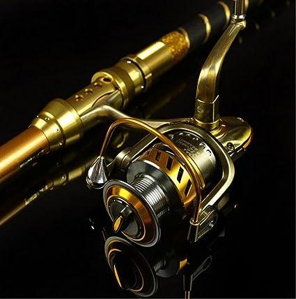 HUWAI Spinning Caña y Carrete Combos de Pesca de Altura Carbono ...