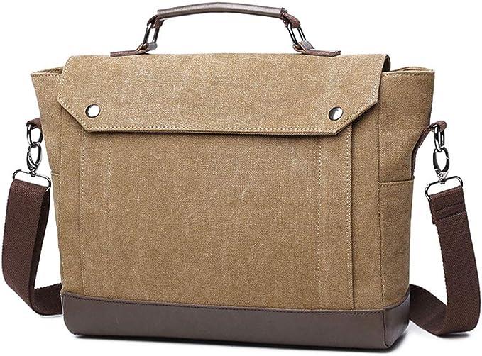 Color : Brown Messenger bag Handbag Casual Business Briefcase Shoulder Messenger Bag Messenger Bag