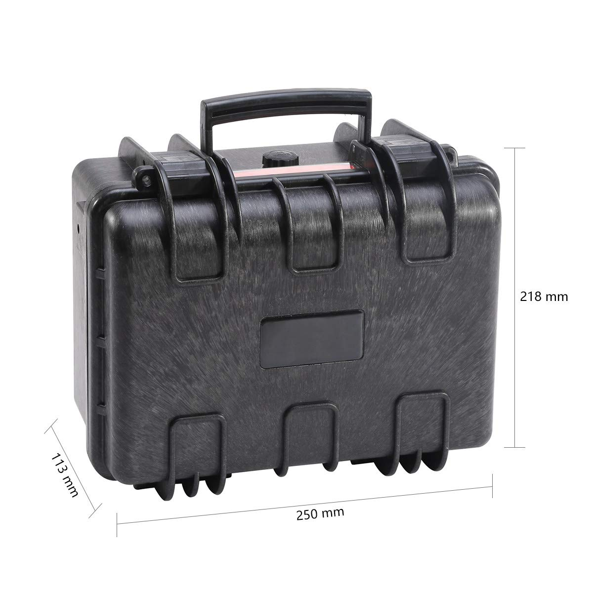 Merdia Pistol Cases Hard Cases Handgun Case Protective Waterproof Revolvers Protective Case with Pre-Cut Foam Light Weight Easy Carrying-External Dimension-9.8*8.6*4.4