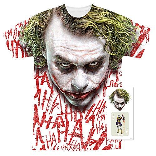 (The Dark Knight Heath Ledger All Over Joker Head T Shirts)