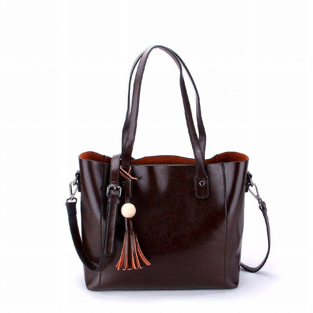 Ölwachs Handtasche Handtasche Schulter Diagonal Handtaschen , Kaffee