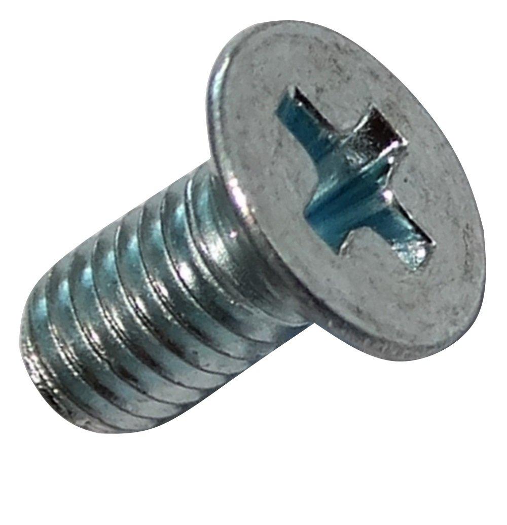 AERZETIX 100x Pernos roscados con cabeza conica M3x6mm DIN965 acero galvanizado huella PH1 cruciforme Phillips C18397