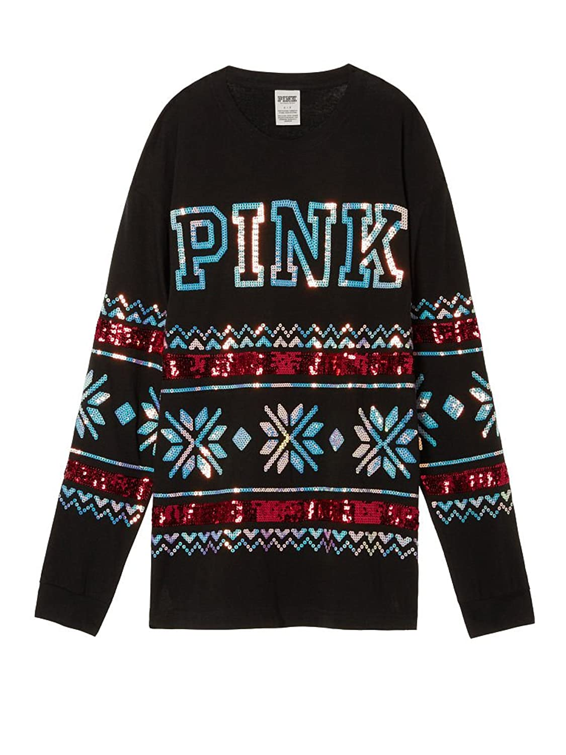 Victoria's Secret Women's PINK HOLIDAY BLING CAMPUS LONG SLEEVE ...