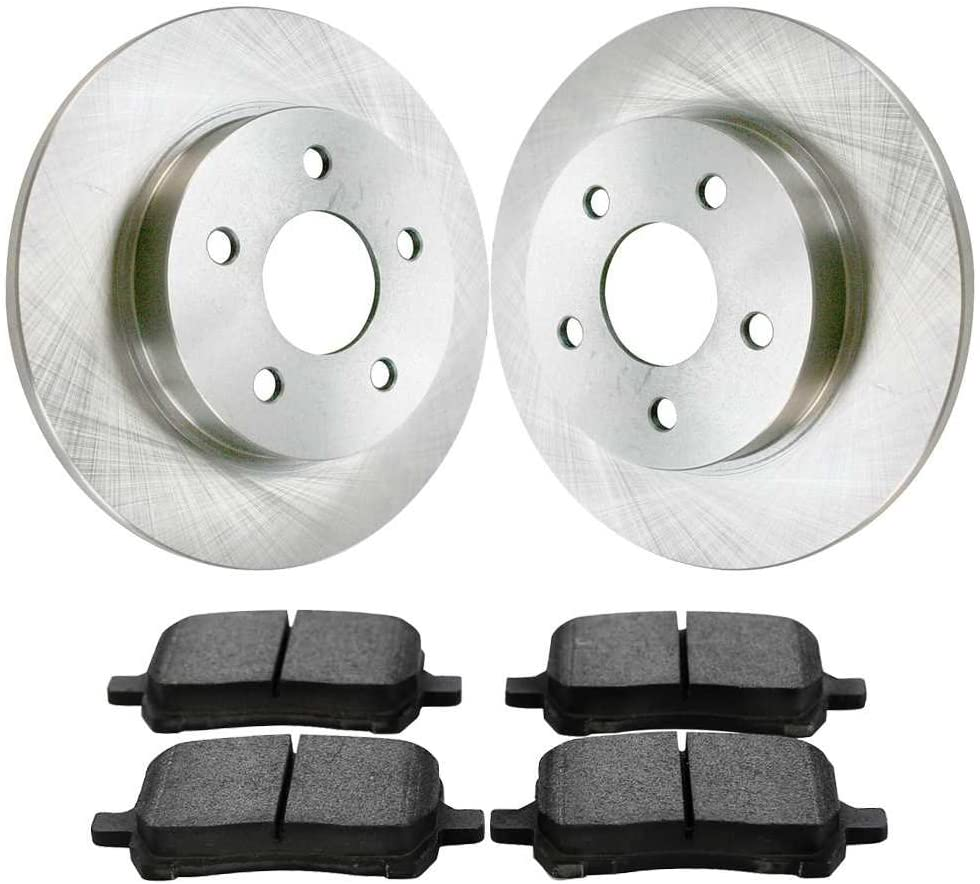 Auto Shack SMK1160R65097 Front Brake Rotors and Semi Metallic Pads