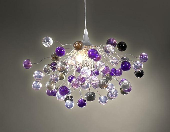 Purple chandelier purple transparent marble pendant lampshade purple chandelier purple transparent marble pendant lampshade ceiling light fixtures mozeypictures Gallery