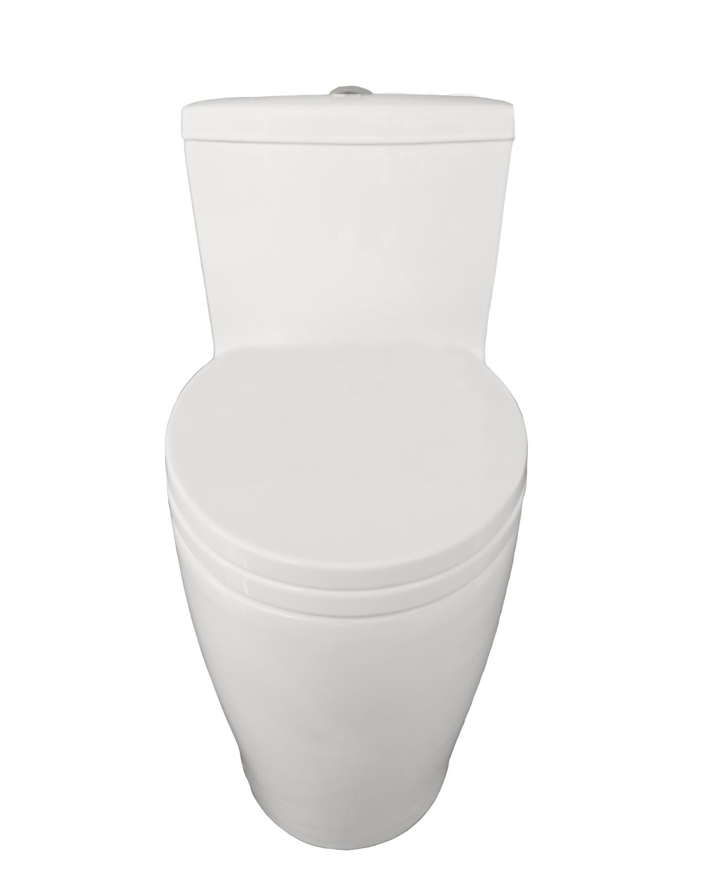 Eviva EVTL528 Softy Elongated One Piece Toilet with Soft Closing Seat Cover, High Efficiency, Water Sense and Cupc Certified with the United States Plumbing Standards Combination, Cotton White by Eviva