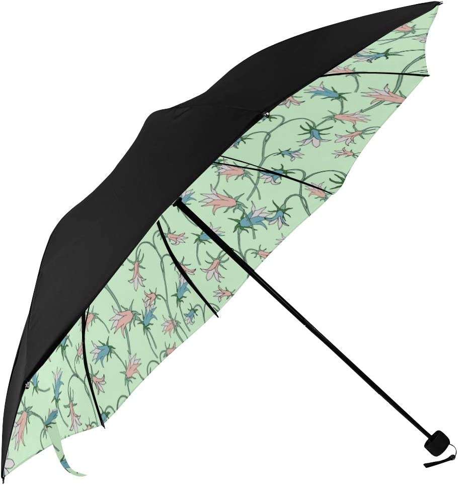 Zyj stores Umbrella Windproof and Durable Flower Print Anti-Sun 3 Folding Umbrella Outdoor Travel Gift Color : B