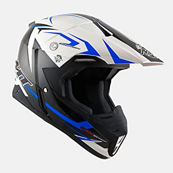 Cross de/Enduro casco – 102904318 – Casco Steel Negro/Azul XXL