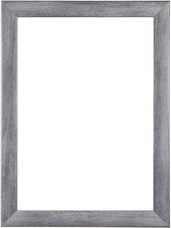Cadre photo 35 x 117 CM pour 14 photos 10 x 15 CM En Blanc Noir Argent Gris