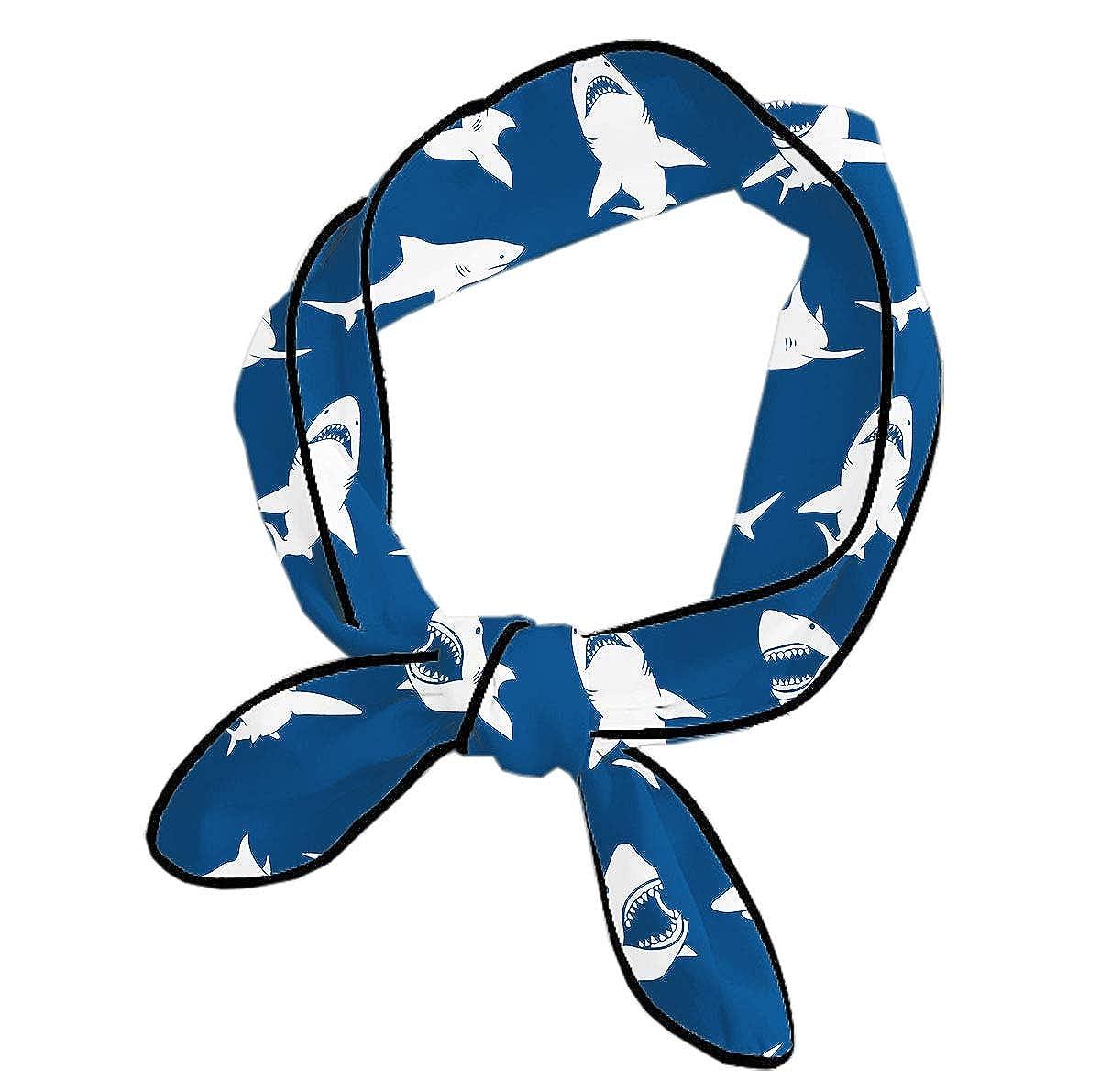 Shark Fierce Blue Girls Bandana Headwear,Fashion//Sport Accessories